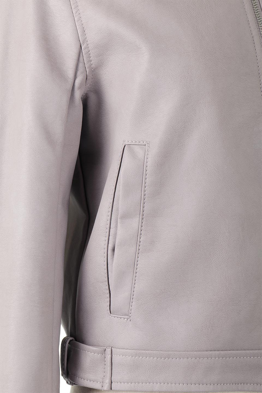 EcoLeatherCollarlessBikerJacketエコレザー・ノーカラーライダースジャケット大人カジュアルに最適な海外ファッションのothers(その他インポートアイテム)のアウターやジャケット。ノーカラーで春でもすっきり着こなせるシンプルなライダースジャケット。ワンピース、スカートなど様々なアイテムとのコーデが楽しめるオールラウンドなアウターです。/main-14