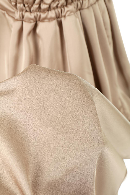FrontTackedShinySatinLongDressフロントタック・サテンワンピース大人カジュアルに最適な海外ファッションのothers(その他インポートアイテム)のワンピースやマキシワンピース。なめらかな光沢のサテン生地を使用したロングワンピース。様々なトップスと遊べるジャンパースカートタイプのデザイン。/main-23