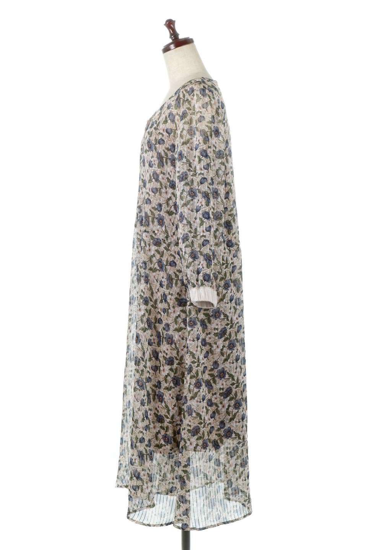 FrontOpen2WayLongDressフルオープン・花柄ワンピース大人カジュアルに最適な海外ファッションのothers(その他インポートアイテム)のワンピースやマキシワンピース。ふわっと透け感のある柔らかな生地のデザインワンピース。光にあたるとほのかに透ける柔らかな素材感のワンピースです。/main-12