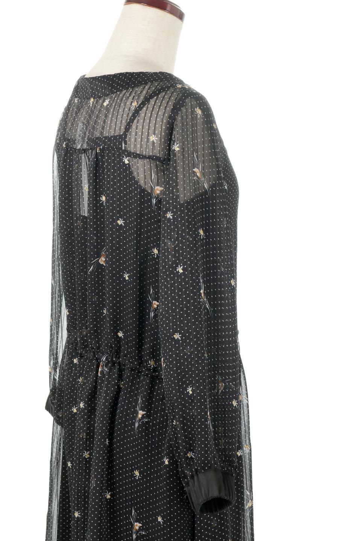 FrontOpen2WayLongDressフルオープン・花柄ワンピース大人カジュアルに最適な海外ファッションのothers(その他インポートアイテム)のワンピースやマキシワンピース。ふわっと透け感のある柔らかな生地のデザインワンピース。光にあたるとほのかに透ける柔らかな素材感のワンピースです。/main-17