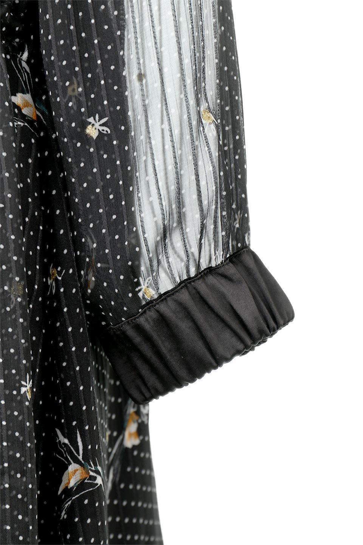 FrontOpen2WayLongDressフルオープン・花柄ワンピース大人カジュアルに最適な海外ファッションのothers(その他インポートアイテム)のワンピースやマキシワンピース。ふわっと透け感のある柔らかな生地のデザインワンピース。光にあたるとほのかに透ける柔らかな素材感のワンピースです。/main-19