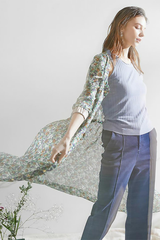 FrontOpen2WayLongDressフルオープン・花柄ワンピース大人カジュアルに最適な海外ファッションのothers(その他インポートアイテム)のワンピースやマキシワンピース。ふわっと透け感のある柔らかな生地のデザインワンピース。光にあたるとほのかに透ける柔らかな素材感のワンピースです。/main-45