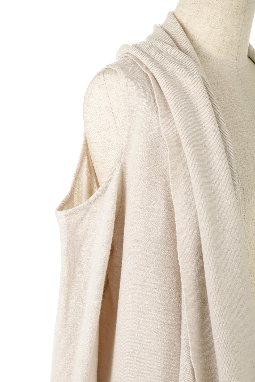 2WayLongCardigan2Way・ロングカーディガン大人カジュアルに最適な海外ファッションのothers(その他インポートアイテム)のアウターやカーディガン。季節に合わせて着方を変えられる、変幻自在の2wayカーデ。長袖のカーディガンとして、またノースリーブのジレとしても着用可能な万能アイテム。/main-8
