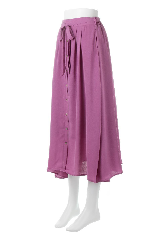 FrontButtonFlareSkirtフロントボタン・フレアスカート大人カジュアルに最適な海外ファッションのothers(その他インポートアイテム)のボトムやスカート。さらっとした素材感でシルエットがキレイなフレアスカートフロントに並ぶ小さなボタンが可愛いフレアスカート。柔らかすぎない生地感で、動くたびにしっかりときれいなシルエットが保てるようになっています。/main-1