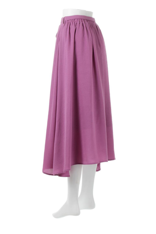FrontButtonFlareSkirtフロントボタン・フレアスカート大人カジュアルに最適な海外ファッションのothers(その他インポートアイテム)のボトムやスカート。さらっとした素材感でシルエットがキレイなフレアスカートフロントに並ぶ小さなボタンが可愛いフレアスカート。柔らかすぎない生地感で、動くたびにしっかりときれいなシルエットが保てるようになっています。/main-3