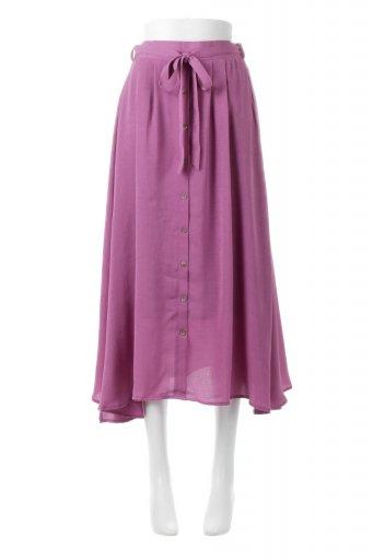 海外ファッションや大人カジュアルに最適なインポートセレクトアイテムのFront Button Flare Skirt フロントボタン・フレアスカート