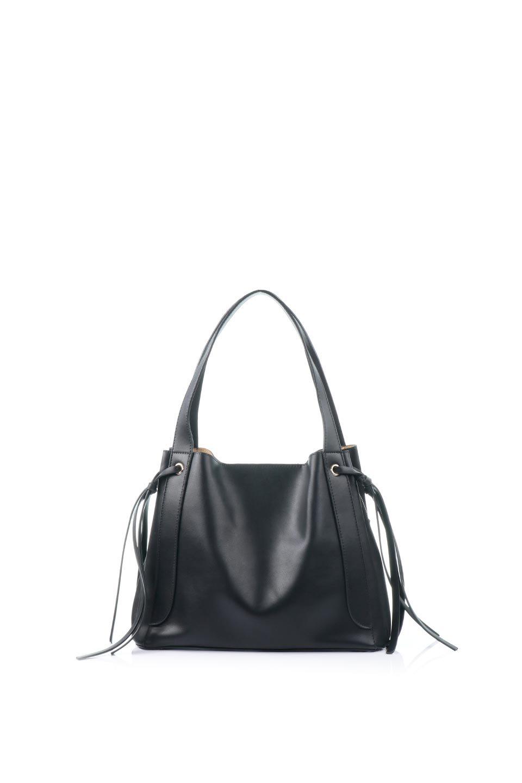meliebiancoのLeslie(Black)センターポケット・トートバッグ/海外ファッション好きにオススメのインポートバッグとかばん、MelieBianco(メリービアンコ)のバッグやトートバッグ。荷室が別れてとても使いやすいバッグ。ファイルも入る大きめのサイズで仕事用としても活躍します。