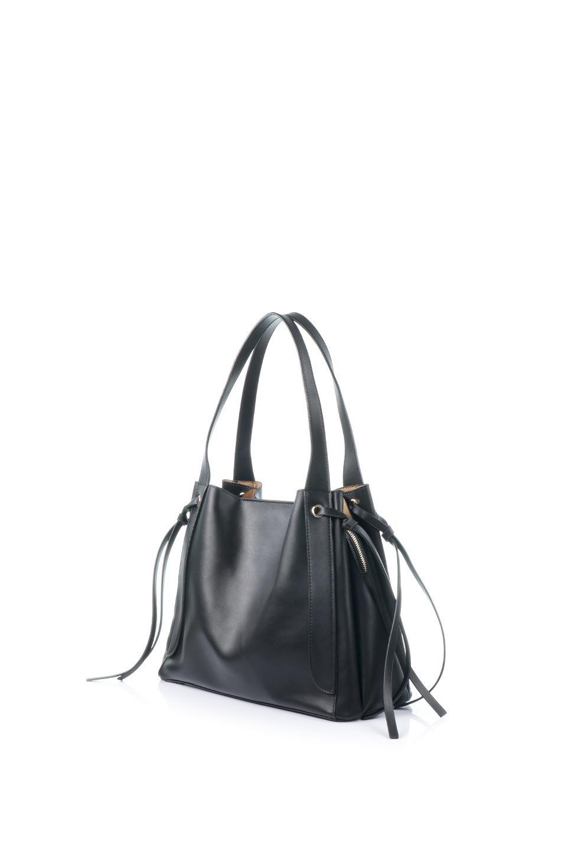 meliebiancoのLeslie(Black)センターポケット・トートバッグ/海外ファッション好きにオススメのインポートバッグとかばん、MelieBianco(メリービアンコ)のバッグやトートバッグ。荷室が別れてとても使いやすいバッグ。ファイルも入る大きめのサイズで仕事用としても活躍します。/main-1