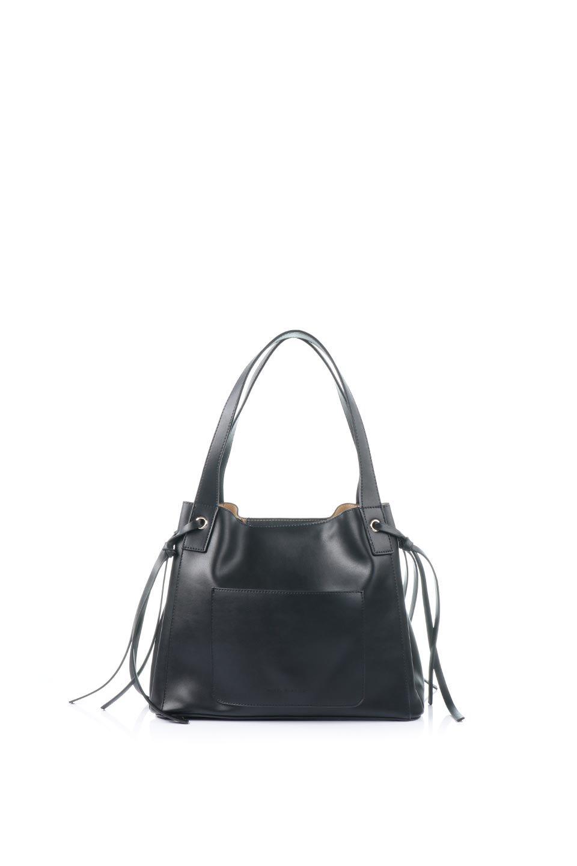 meliebiancoのLeslie(Black)センターポケット・トートバッグ/海外ファッション好きにオススメのインポートバッグとかばん、MelieBianco(メリービアンコ)のバッグやトートバッグ。荷室が別れてとても使いやすいバッグ。ファイルも入る大きめのサイズで仕事用としても活躍します。/main-4