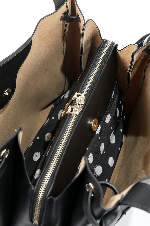 meliebiancoのLeslie(Black)センターポケット・トートバッグ/海外ファッション好きにオススメのインポートバッグとかばん、MelieBianco(メリービアンコ)のバッグやトートバッグ。荷室が別れてとても使いやすいバッグ。ファイルも入る大きめのサイズで仕事用としても活躍します。/main-9