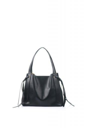 海外ファッションや大人カジュアルのためのインポートバッグ、かばんmelie bianco(メリービアンコ)のLeslie (Black) センターポケット・トートバッグ