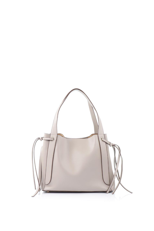 meliebiancoのLeslie(Taupe)センターポケット・トートバッグ/海外ファッション好きにオススメのインポートバッグとかばん、MelieBianco(メリービアンコ)のバッグやトートバッグ。荷室が別れてとても使いやすいバッグ。ファイルも入る大きめのサイズで仕事用としても活躍します。