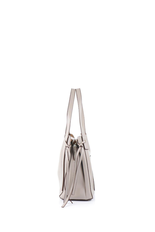 meliebiancoのLeslie(Taupe)センターポケット・トートバッグ/海外ファッション好きにオススメのインポートバッグとかばん、MelieBianco(メリービアンコ)のバッグやトートバッグ。荷室が別れてとても使いやすいバッグ。ファイルも入る大きめのサイズで仕事用としても活躍します。/main-2