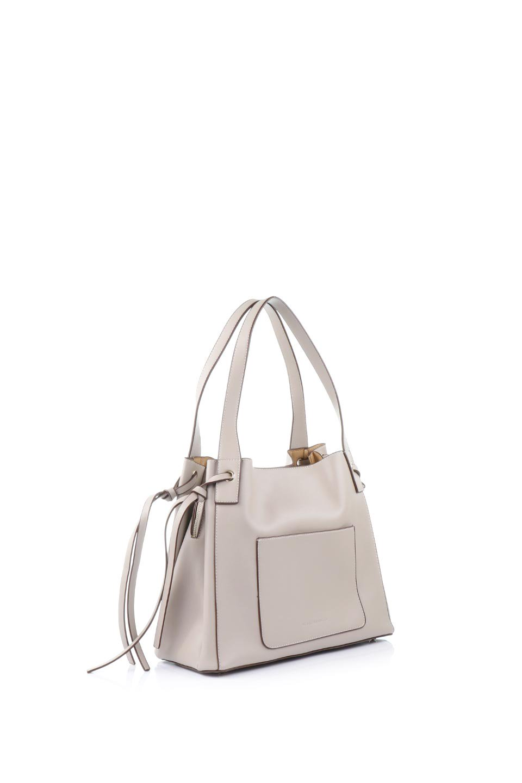 meliebiancoのLeslie(Taupe)センターポケット・トートバッグ/海外ファッション好きにオススメのインポートバッグとかばん、MelieBianco(メリービアンコ)のバッグやトートバッグ。荷室が別れてとても使いやすいバッグ。ファイルも入る大きめのサイズで仕事用としても活躍します。/main-3