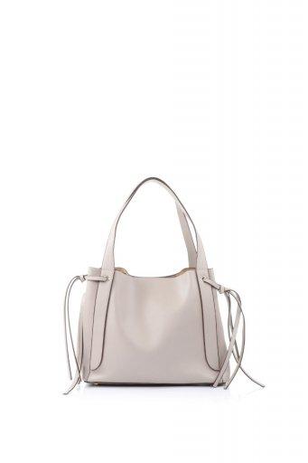 海外ファッションや大人カジュアルのためのインポートバッグ、かばんmelie bianco(メリービアンコ)のLeslie (Taupe) センターポケット・トートバッグ
