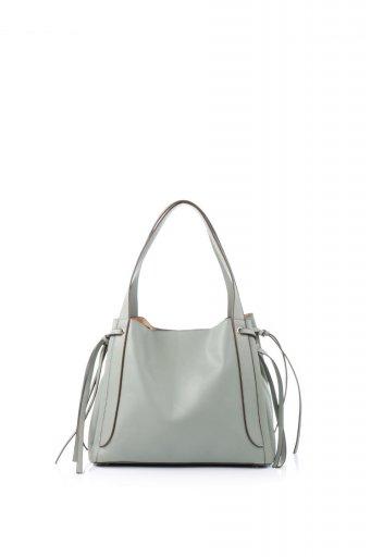 海外ファッションや大人カジュアルのためのインポートバッグ、かばんmelie bianco(メリービアンコ)のLeslie (Mint) センターポケット・トートバッグ