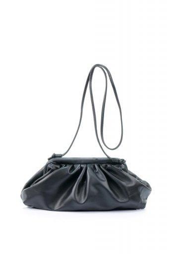 海外ファッションや大人カジュアルのためのインポートバッグ、かばんmelie bianco(メリービアンコ)のBrandy (Black) がま口・ギャザーバッグ
