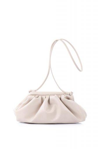 海外ファッションや大人カジュアルのためのインポートバッグ、かばんmelie bianco(メリービアンコ)のBrandy (Nude) がま口・ギャザーバッグ