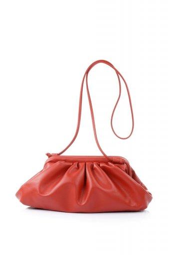 海外ファッションや大人カジュアルのためのインポートバッグ、かばんmelie bianco(メリービアンコ)のBrandy (Red) がま口・ギャザーバッグ