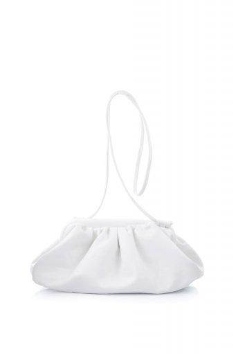 海外ファッションや大人カジュアルのためのインポートバッグ、かばんmelie bianco(メリービアンコ)のBrandy (White) がま口・ギャザーバッグ