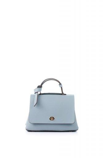 海外ファッションや大人カジュアルのためのインポートバッグ、かばんmelie bianco(メリービアンコ)のCamilla (Blue) ビーガンレザー・ミニハンドバッグ
