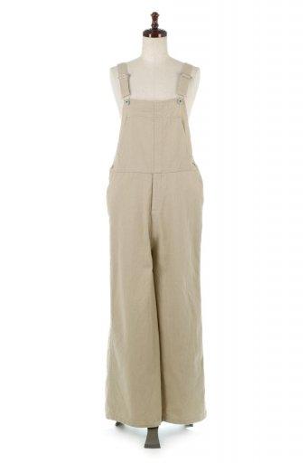 Soft Cotton Wide Leg Over All ソフトコットン・ワイドパンツオーバーオール / 大人カジュアルに最適な海外ファッションが得意な福島市のセレクトショップbloom