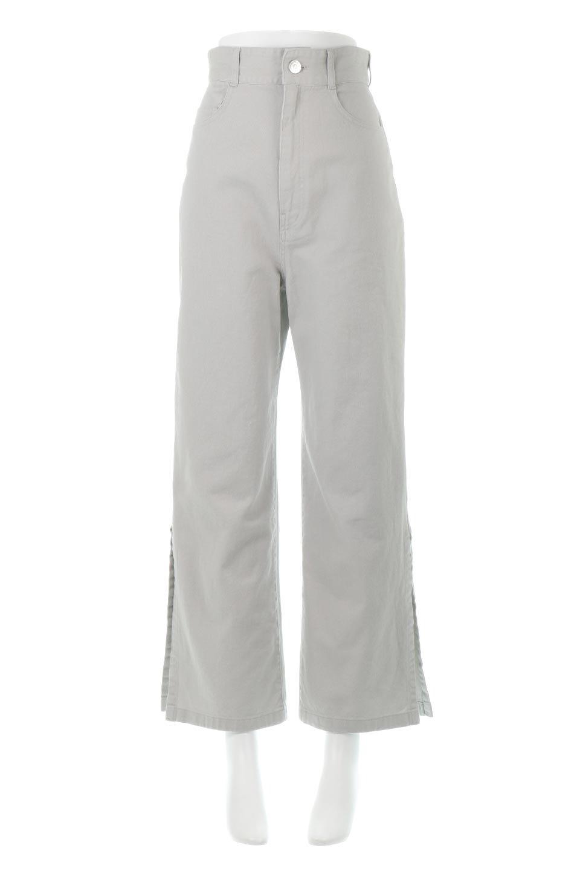 Lace-UpWideLegSlitPantsレースアップ・スリット入りワイドパンツ大人カジュアルに最適な海外ファッションのothers(その他インポートアイテム)のボトムやパンツ。バックのレースアップが特徴のワイドパンツ。ソフトなコットン生地で履き心地も抜群。