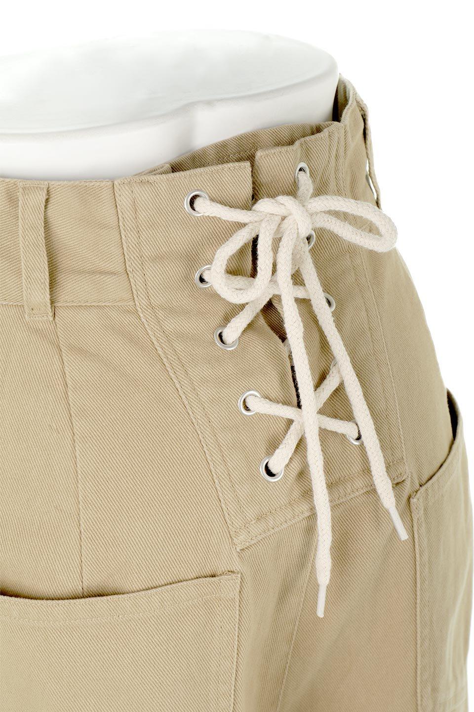 Lace-UpWideLegSlitPantsレースアップ・スリット入りワイドパンツ大人カジュアルに最適な海外ファッションのothers(その他インポートアイテム)のボトムやパンツ。バックのレースアップが特徴のワイドパンツ。ソフトなコットン生地で履き心地も抜群。/main-12