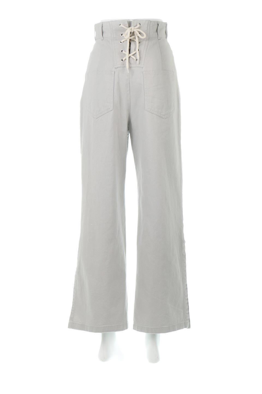 Lace-UpWideLegSlitPantsレースアップ・スリット入りワイドパンツ大人カジュアルに最適な海外ファッションのothers(その他インポートアイテム)のボトムやパンツ。バックのレースアップが特徴のワイドパンツ。ソフトなコットン生地で履き心地も抜群。/main-4