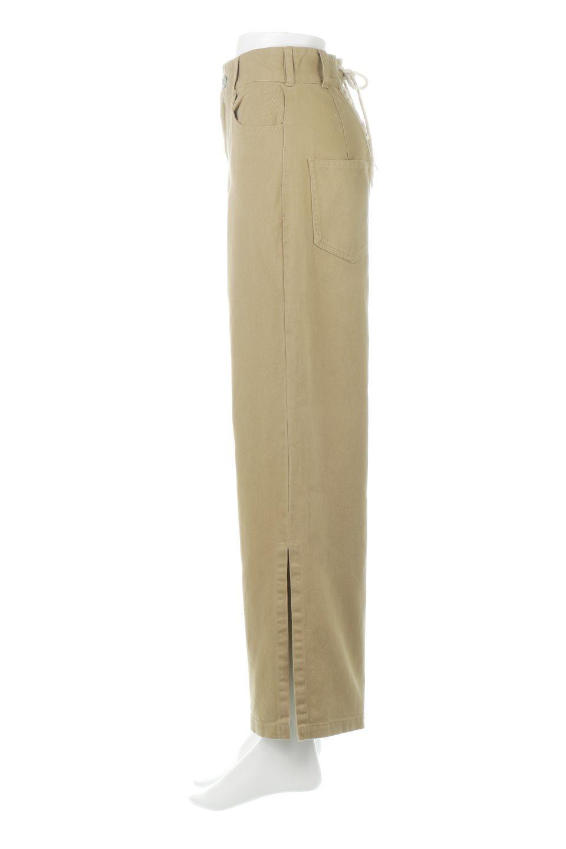 Lace-UpWideLegSlitPantsレースアップ・スリット入りワイドパンツ大人カジュアルに最適な海外ファッションのothers(その他インポートアイテム)のボトムやパンツ。バックのレースアップが特徴のワイドパンツ。ソフトなコットン生地で履き心地も抜群。/main-7