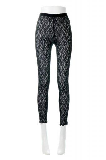 海外ファッションや大人カジュアルに最適なインポートセレクトアイテムのMellow Hem Lace Leggings メロー裾・レギンスパンツ