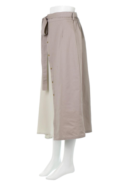 TieWaistBicolorPanelSkirtバイカラー・切替ラップ風スカート大人カジュアルに最適な海外ファッションのothers(その他インポートアイテム)のボトムやスカート。2種類の生地を使用したバイカラーのロングスカート。硬めの生地とソフトな生地を組み合わせたアシメデザイン。/main-11