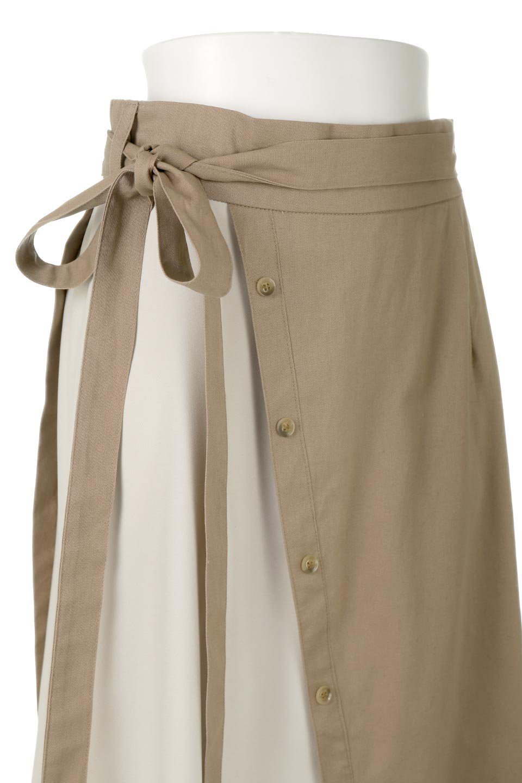 TieWaistBicolorPanelSkirtバイカラー・切替ラップ風スカート大人カジュアルに最適な海外ファッションのothers(その他インポートアイテム)のボトムやスカート。2種類の生地を使用したバイカラーのロングスカート。硬めの生地とソフトな生地を組み合わせたアシメデザイン。/main-15