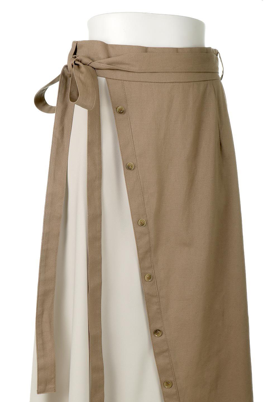 TieWaistBicolorPanelSkirtバイカラー・切替ラップ風スカート大人カジュアルに最適な海外ファッションのothers(その他インポートアイテム)のボトムやスカート。2種類の生地を使用したバイカラーのロングスカート。硬めの生地とソフトな生地を組み合わせたアシメデザイン。/main-17