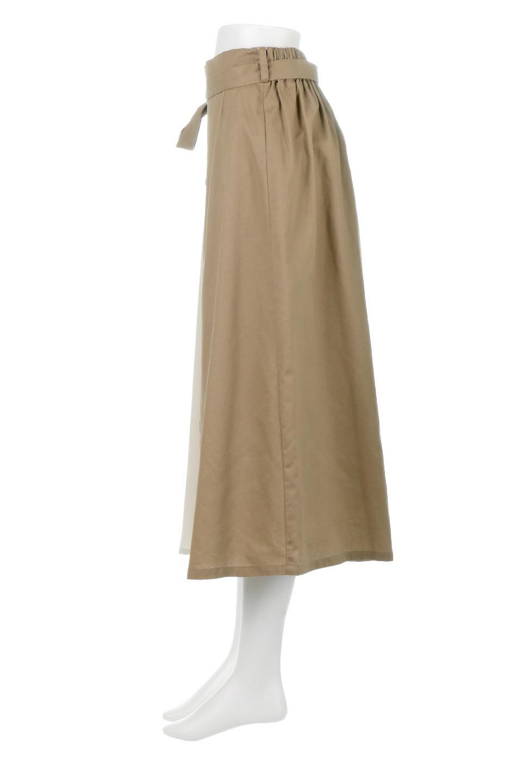 TieWaistBicolorPanelSkirtバイカラー・切替ラップ風スカート大人カジュアルに最適な海外ファッションのothers(その他インポートアイテム)のボトムやスカート。2種類の生地を使用したバイカラーのロングスカート。硬めの生地とソフトな生地を組み合わせたアシメデザイン。/main-2