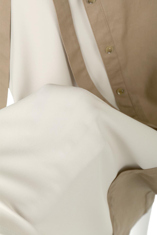 TieWaistBicolorPanelSkirtバイカラー・切替ラップ風スカート大人カジュアルに最適な海外ファッションのothers(その他インポートアイテム)のボトムやスカート。2種類の生地を使用したバイカラーのロングスカート。硬めの生地とソフトな生地を組み合わせたアシメデザイン。/main-21