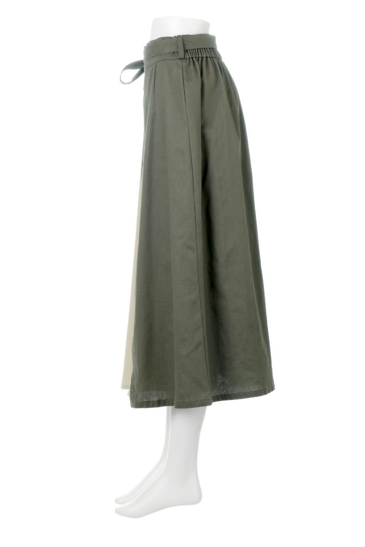 TieWaistBicolorPanelSkirtバイカラー・切替ラップ風スカート大人カジュアルに最適な海外ファッションのothers(その他インポートアイテム)のボトムやスカート。2種類の生地を使用したバイカラーのロングスカート。硬めの生地とソフトな生地を組み合わせたアシメデザイン。/main-7
