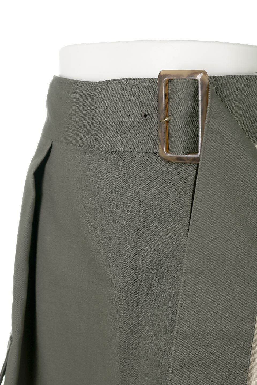 SidePocketBicolorPanelSkirtサイドポケット・切替ラップ風スカート大人カジュアルに最適な海外ファッションのothers(その他インポートアイテム)のボトムやスカート。2種類の生地を使用したバイカラーのロングスカート。硬めの生地とソフトな生地を組み合わせたアシメデザイン。/main-11