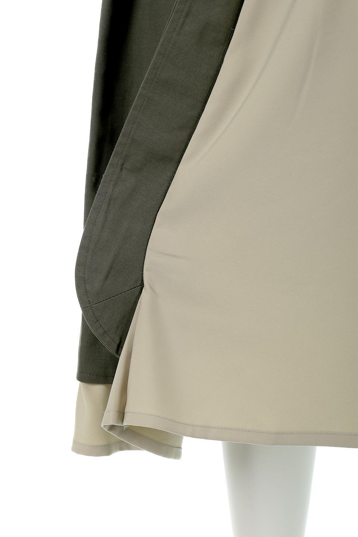 SidePocketBicolorPanelSkirtサイドポケット・切替ラップ風スカート大人カジュアルに最適な海外ファッションのothers(その他インポートアイテム)のボトムやスカート。2種類の生地を使用したバイカラーのロングスカート。硬めの生地とソフトな生地を組み合わせたアシメデザイン。/main-14