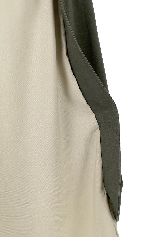 SidePocketBicolorPanelSkirtサイドポケット・切替ラップ風スカート大人カジュアルに最適な海外ファッションのothers(その他インポートアイテム)のボトムやスカート。2種類の生地を使用したバイカラーのロングスカート。硬めの生地とソフトな生地を組み合わせたアシメデザイン。/main-15