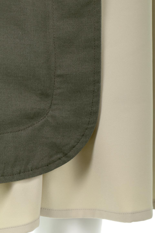 SidePocketBicolorPanelSkirtサイドポケット・切替ラップ風スカート大人カジュアルに最適な海外ファッションのothers(その他インポートアイテム)のボトムやスカート。2種類の生地を使用したバイカラーのロングスカート。硬めの生地とソフトな生地を組み合わせたアシメデザイン。/main-17