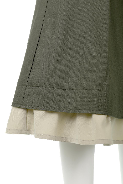 SidePocketBicolorPanelSkirtサイドポケット・切替ラップ風スカート大人カジュアルに最適な海外ファッションのothers(その他インポートアイテム)のボトムやスカート。2種類の生地を使用したバイカラーのロングスカート。硬めの生地とソフトな生地を組み合わせたアシメデザイン。/main-18