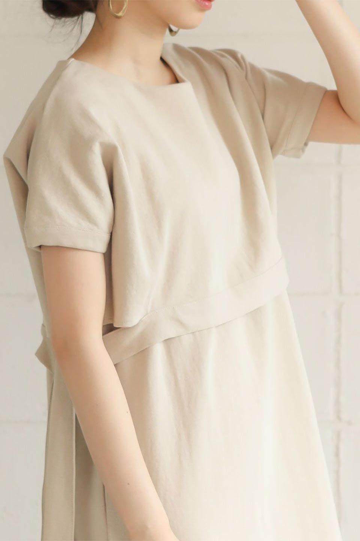 SideRibbonFauxLayeredSwatDressサイドリボン・レイヤードワンピース大人カジュアルに最適な海外ファッションのothers(その他インポートアイテム)のワンピースやマキシワンピース。トップスを重ねて着ているようなデザインのレイヤード(重ね着)風ワンピース。程よい厚みのあるカットソー素材で、からだのあたりが出にくく1枚で着こなしが完成するのもうれしいポイント。/main-32