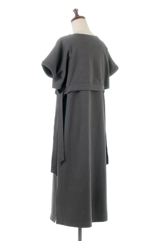SideRibbonFauxLayeredSwatDressサイドリボン・レイヤードワンピース大人カジュアルに最適な海外ファッションのothers(その他インポートアイテム)のワンピースやマキシワンピース。トップスを重ねて着ているようなデザインのレイヤード(重ね着)風ワンピース。程よい厚みのあるカットソー素材で、からだのあたりが出にくく1枚で着こなしが完成するのもうれしいポイント。/main-8