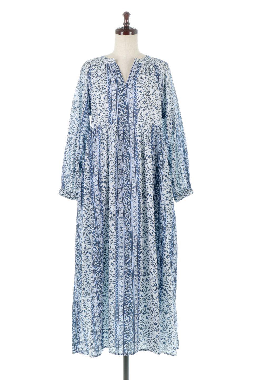 FloralPrintedPanelDress小花柄・パネルワンピース大人カジュアルに最適な海外ファッションのothers(その他インポートアイテム)のワンピースやマキシワンピース。オリエンタルな雰囲気のパネルプリントが魅力的なワンピース。インド綿ならではの柔らかで涼しげな素材感は、軽くて着心地も抜群。