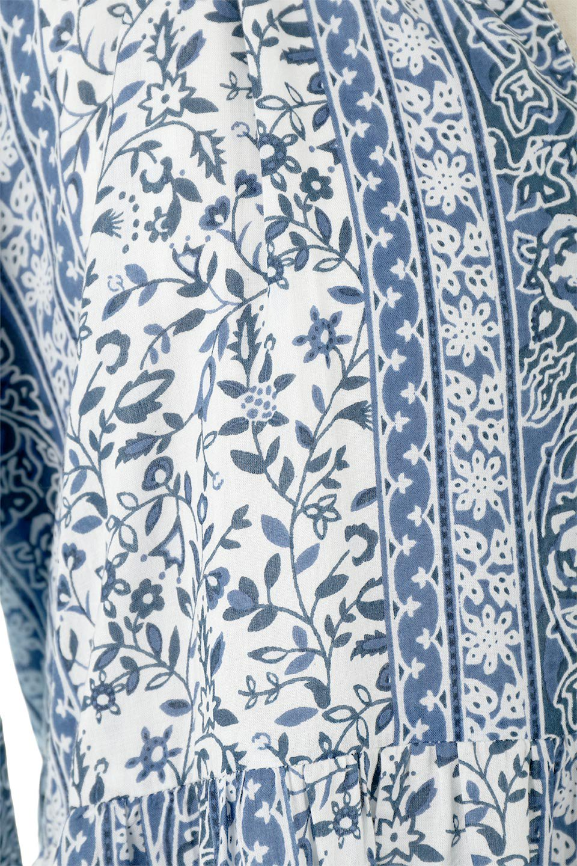 FloralPrintedPanelDress小花柄・パネルワンピース大人カジュアルに最適な海外ファッションのothers(その他インポートアイテム)のワンピースやマキシワンピース。オリエンタルな雰囲気のパネルプリントが魅力的なワンピース。インド綿ならではの柔らかで涼しげな素材感は、軽くて着心地も抜群。/main-17