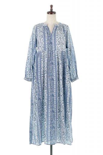 海外ファッションや大人カジュアルに最適なインポートセレクトアイテムのFloral Printed Panel Dress 小花柄・パネルワンピース