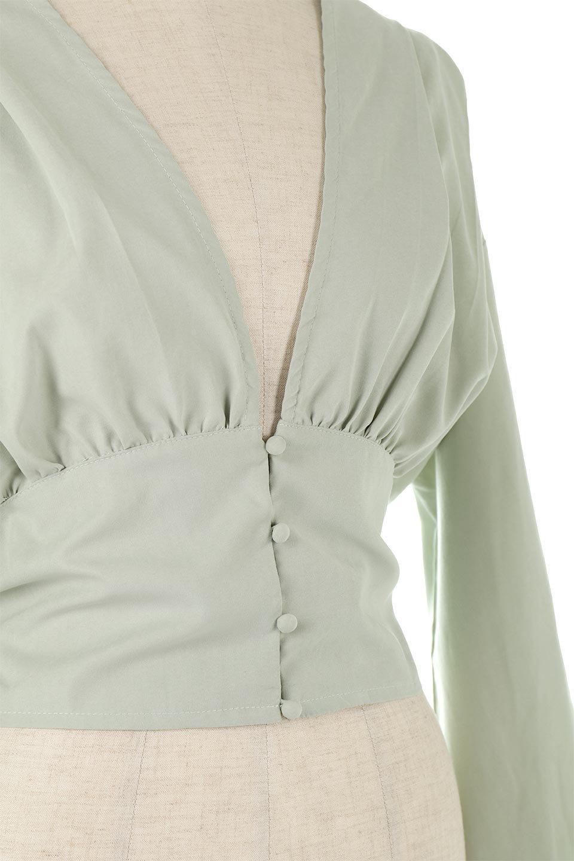 WideWaistRibbonTieBlouseワイドウエスト・バックリボンブラウス大人カジュアルに最適な海外ファッションのothers(その他インポートアイテム)のトップスやシャツ・ブラウス。桃の表面のようなピーチスキン加工の長袖ブラウス。ショート丈とワイドなウエストバンドでシルエットにメリハリができ、細見え効果のあるブラウスです。/main-12