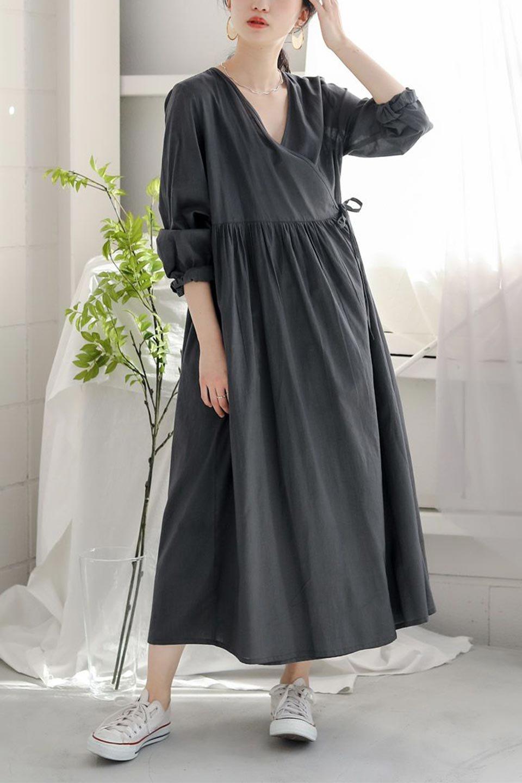 2WayCache-coeurLongDress2Way・カシュクールワンピース大人カジュアルに最適な海外ファッションのothers(その他インポートアイテム)のワンピースやマキシワンピース。2WAY仕様で着れるワンピース。着回ししやすいデザインで前を閉じて着ると女性らしいカシュクールタイプのワンピース。/main-23