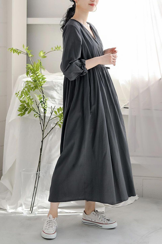 2WayCache-coeurLongDress2Way・カシュクールワンピース大人カジュアルに最適な海外ファッションのothers(その他インポートアイテム)のワンピースやマキシワンピース。2WAY仕様で着れるワンピース。着回ししやすいデザインで前を閉じて着ると女性らしいカシュクールタイプのワンピース。/main-26
